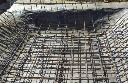 Армировка на фундамент (снимка)